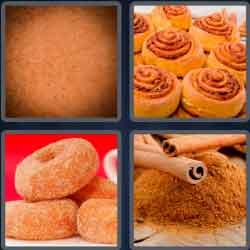 4 pics 1 word 8 letters cinnamon