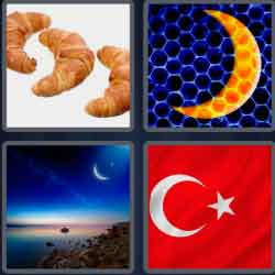 4 pics 1 word 8 letters crescent