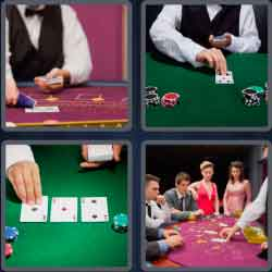 4 pics 1 word 8 letters croupier