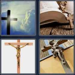 4 pics 1 word 8 letters crucifix