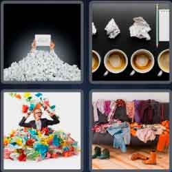 4 Pics 1 Word 8 Letters Crumpled