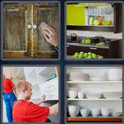 4 pics 1 word 8 letters cupboard
