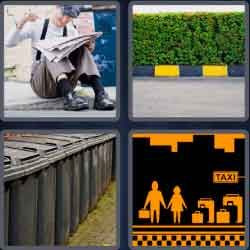 4 pics 1 word 8 letters curbside