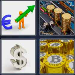 4 pics 1 word 8 letters currency