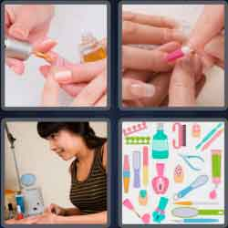 4 pics 1 word 8 letters cuticles