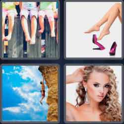 4 pics 1 word 8 letters dangling