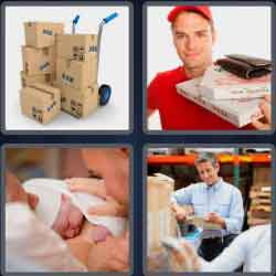 4 pics 1 word 8 letters delivery