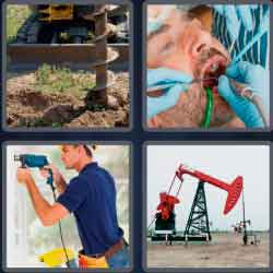 4 pics 1 word 8 letters drilling