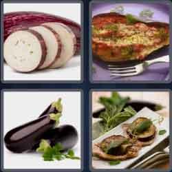 4 pics 1 word 8 letters eggplant