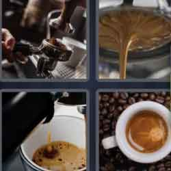 4 pics 1 word 8 letters coffee maker coffee cup