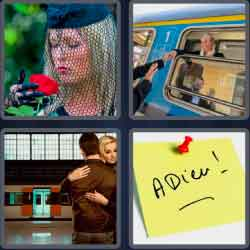 "4 pics 1 word 8 letters farewell"" width="