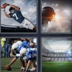 4 pics 1 word 8 letters rugby stadium or american football