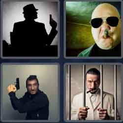 4 Pics 1 Word 8 Letters Gangster