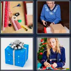4 pics 1 word 8 letters giftwrap