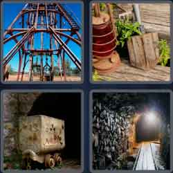 4 pics 1 word 8 letters goldmine