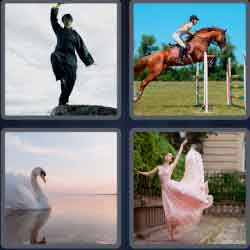 4 pics 1 word 8 letters graceful