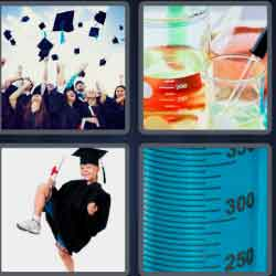 4 pics 1 word 8 letters graduate