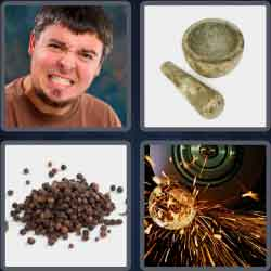 4 pics 1 word 8 letters grinding