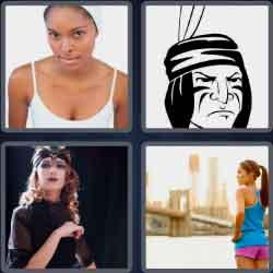 4 pics 1 word 8 letters headband