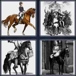 4 pics 1 word 8 letters horseman