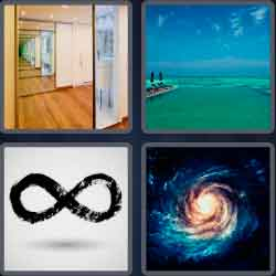 4 pics 1 word 8 letters infinity