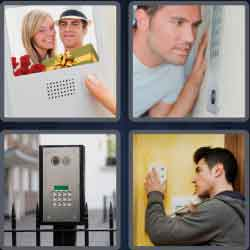 4 pics 1 word 8 letters intercom