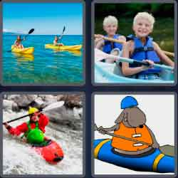 4 pics 1 word 8 letters -kayaking