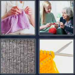 4 pics 1 word 8 letters knitting