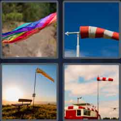 4 pics 1 word 8 letters windsock