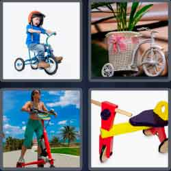 4 pics 1 word 8 letters tricycle