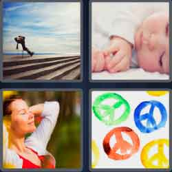 4 pics 1 word 8 letters peaceful