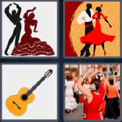 4 pics 1 word 8 letters Spanish dancers