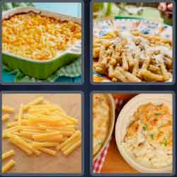 4 pics 1 word 8 letters macaroni