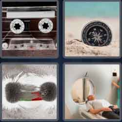 4 pics 1 word 8 letters magnetic