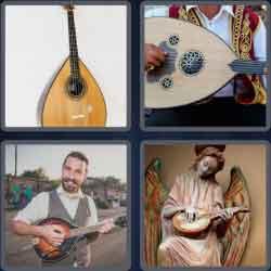4 pics 1 word 8 letters mandolin