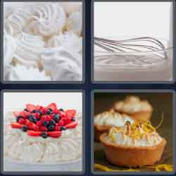 4 pics 1 word 8 letters meringue