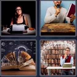 4 pics 1 word 8 letters novelist
