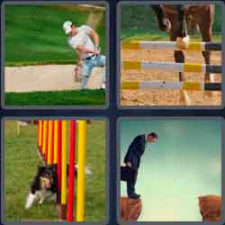 4 pics 1 word 8 letters obstacle