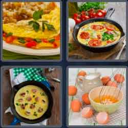 4 pics 1 word 8 letters omelette