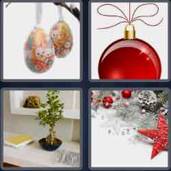 4 pics 1 word 8 letters ornament