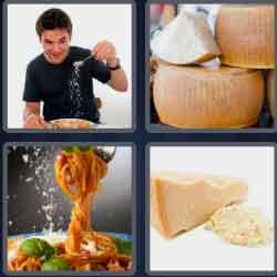 4 pics 1 word 8 letters parmesan