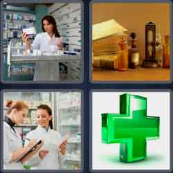 4 pics 1 word 8 letters pharmacy