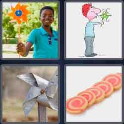 4 pics 1 word 8 letters pinwheel