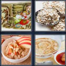 4 pics 1 word 8 letters porridge