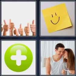 4 pics 1 word 8 letters positive