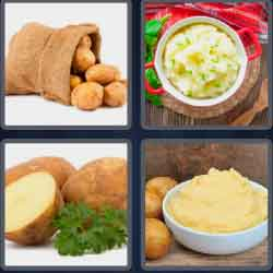 4 pics 1 word 8 letters potatoes