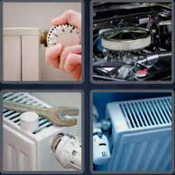 4 pics 1 word 8 letters radiator