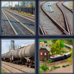 4 pics 1 word 8 letters railroad
