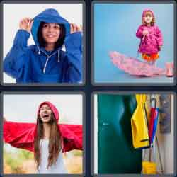 4 pics 1 word 8 letters raincoat