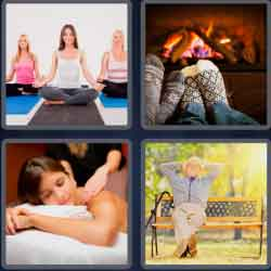 4 pics 1 word 8 letters relaxing